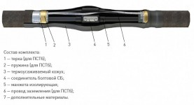 Кабельная Муфта 3 ПСТ-1 (150-240) с соединителями (полиэтилен без брони) ЗЭТА