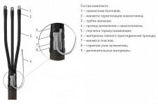 Кабельная Муфта 4 КВТп-1 (150-240) с наконечниками (пластик/бумага) ЗЭТА