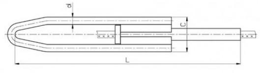 Зажим натяжной прессуемый НМБ-95-1
