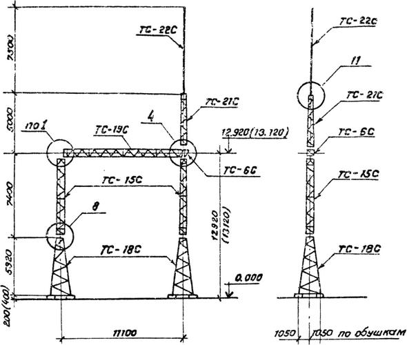 Портал стальной ячейковый ОРУ ПС-150Я2