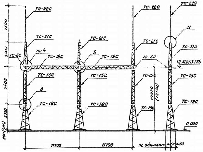 Портал стальной ячейковый ОРУ ПС-150Я4