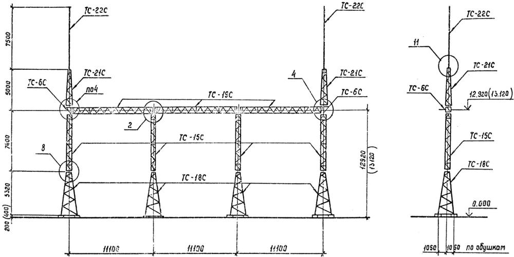 Портал стальной ячейковый ОРУ ПС-150Я5С