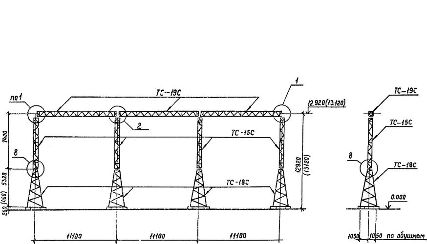 Портал стальной ячейковый ОРУ ПС-150Я6