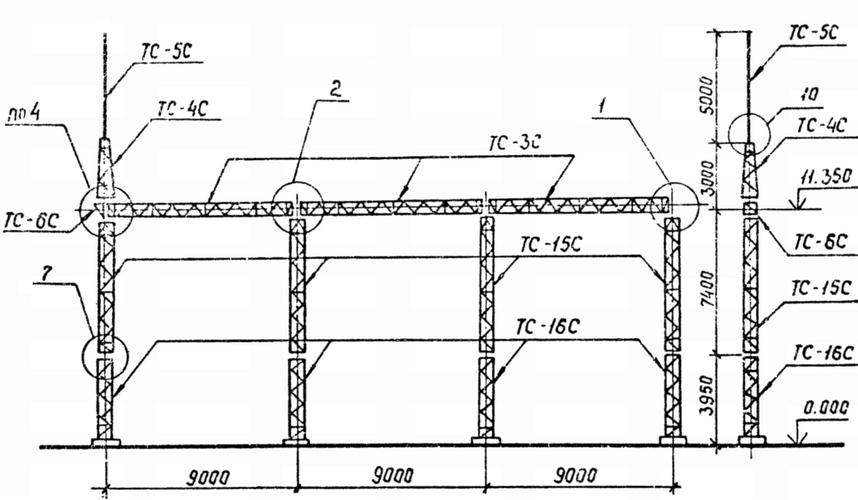 Портал стальной ячейковый ОРУ ПСЛ-110Я12