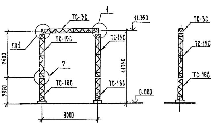 Портал стальной ячейковый ОРУ ПСЛ-110Я1С