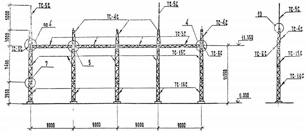 Портал стальной ячейковый ОРУ ПСЛ-110Я8С
