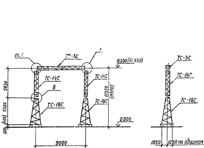 Портал стальной ячейковый ОРУ ПСТ-110Я1С