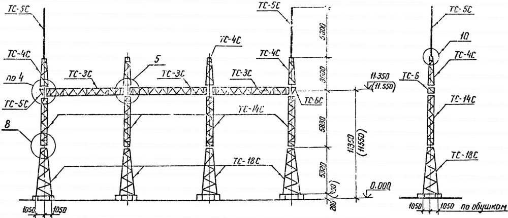 Портал стальной ячейковый ОРУ ПСТ-110Я7