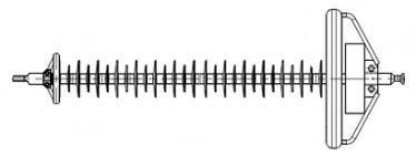 Изолятор линейный полимерный ЛК 160/330-И-2 СП