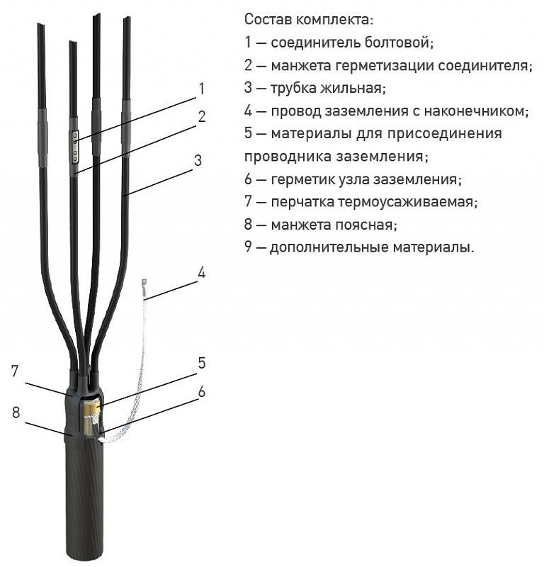 Кабельная Муфта переходная 4 СПТп-1 (СИП) (150-240) ЗЭТА